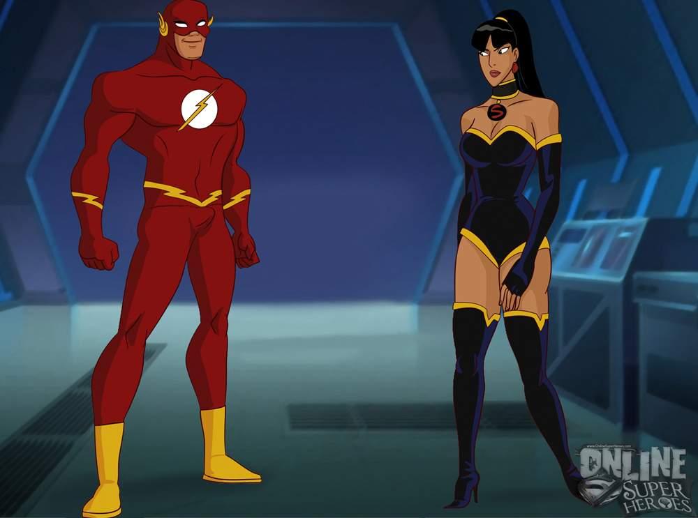 SureFap xxx porno Justice League - [Online SuperHeroes][Max] - The Flash Enjoys Lightning Fast Anal Sex With A Fellow Justice League Member!