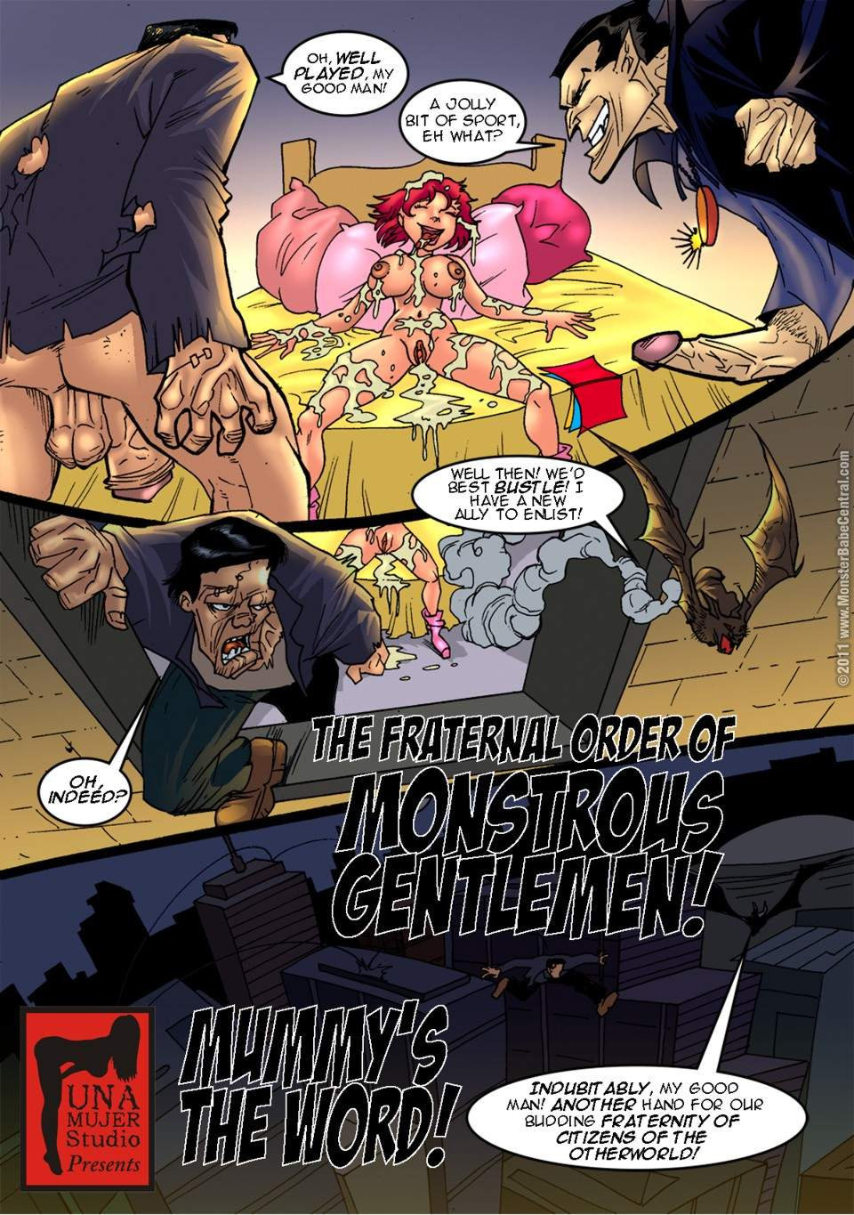 SureFap xxx porno Crossover - [MonsterBabeCentral] - The Fraternal Order of Monstrous Gentlemen! - Issue 2 - Living Mummy