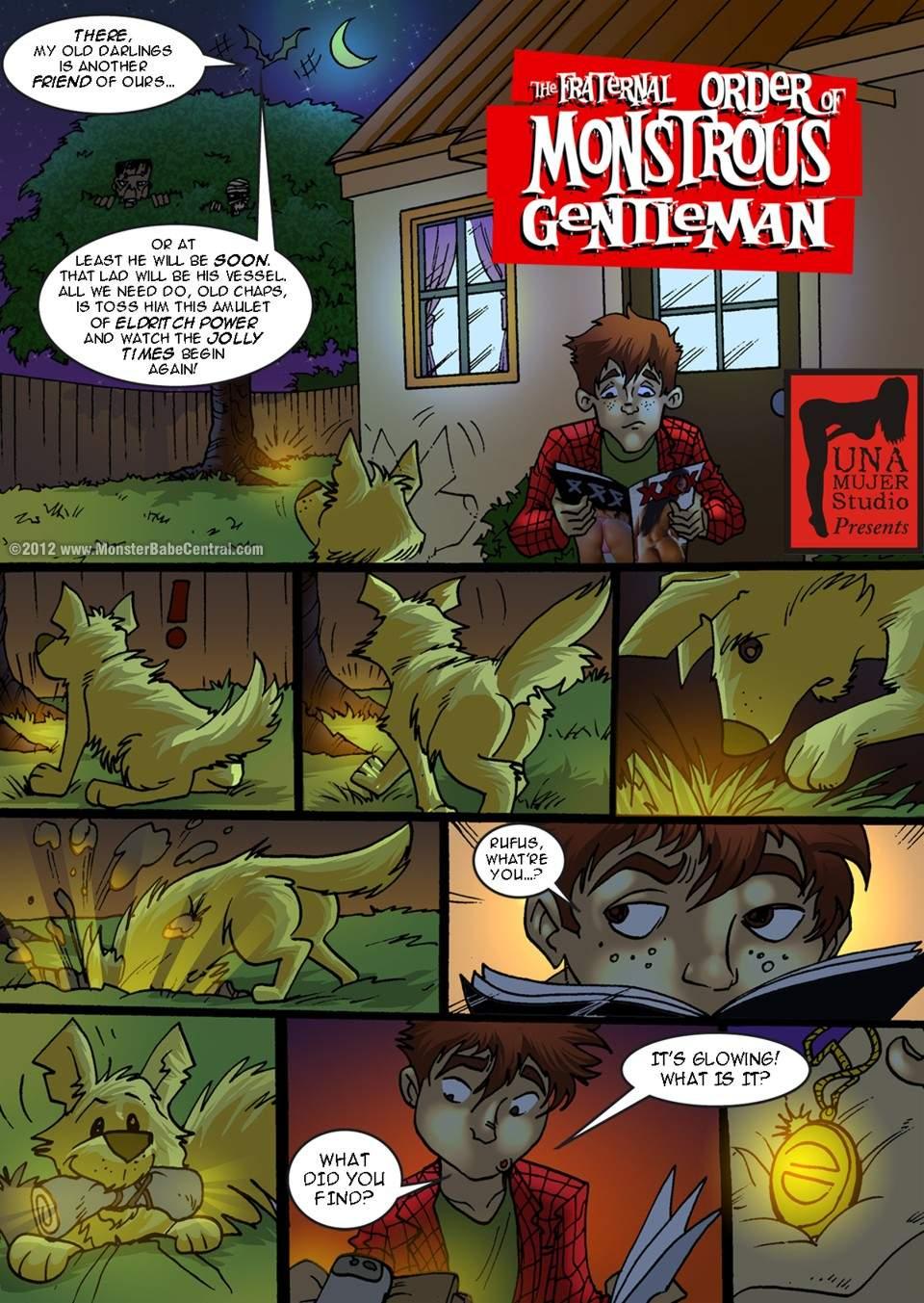 SureFap xxx porno Crossover - [MonsterBabeCentral] - The Fraternal Order of Monstrous Gentlemen! - Issue 3 - Teen Wolf
