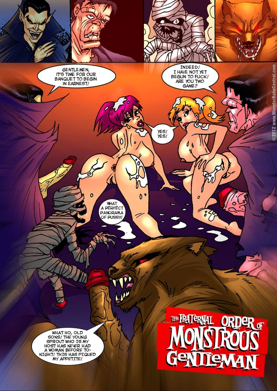 SureFap xxx porno Crossover - [MonsterBabeCentral] - The Fraternal Order of Monstrous Gentlemen! - Issue 4 - Banquet