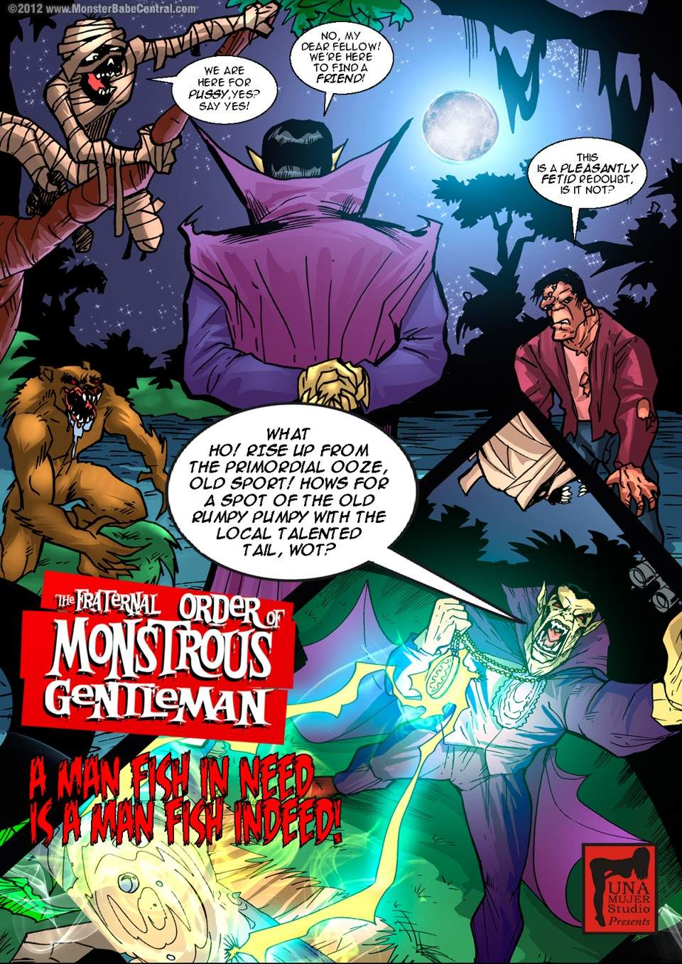 SureFap xxx porno Crossover - [MonsterBabeCentral] - The Fraternal Order of Monstrous Gentlemen! - Issue 5 - Swamp Monster
