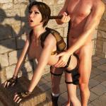 Tomb Raider - [Sasha2000Dog][Detomasso] - Lara and Nathan in Egyptian Temple