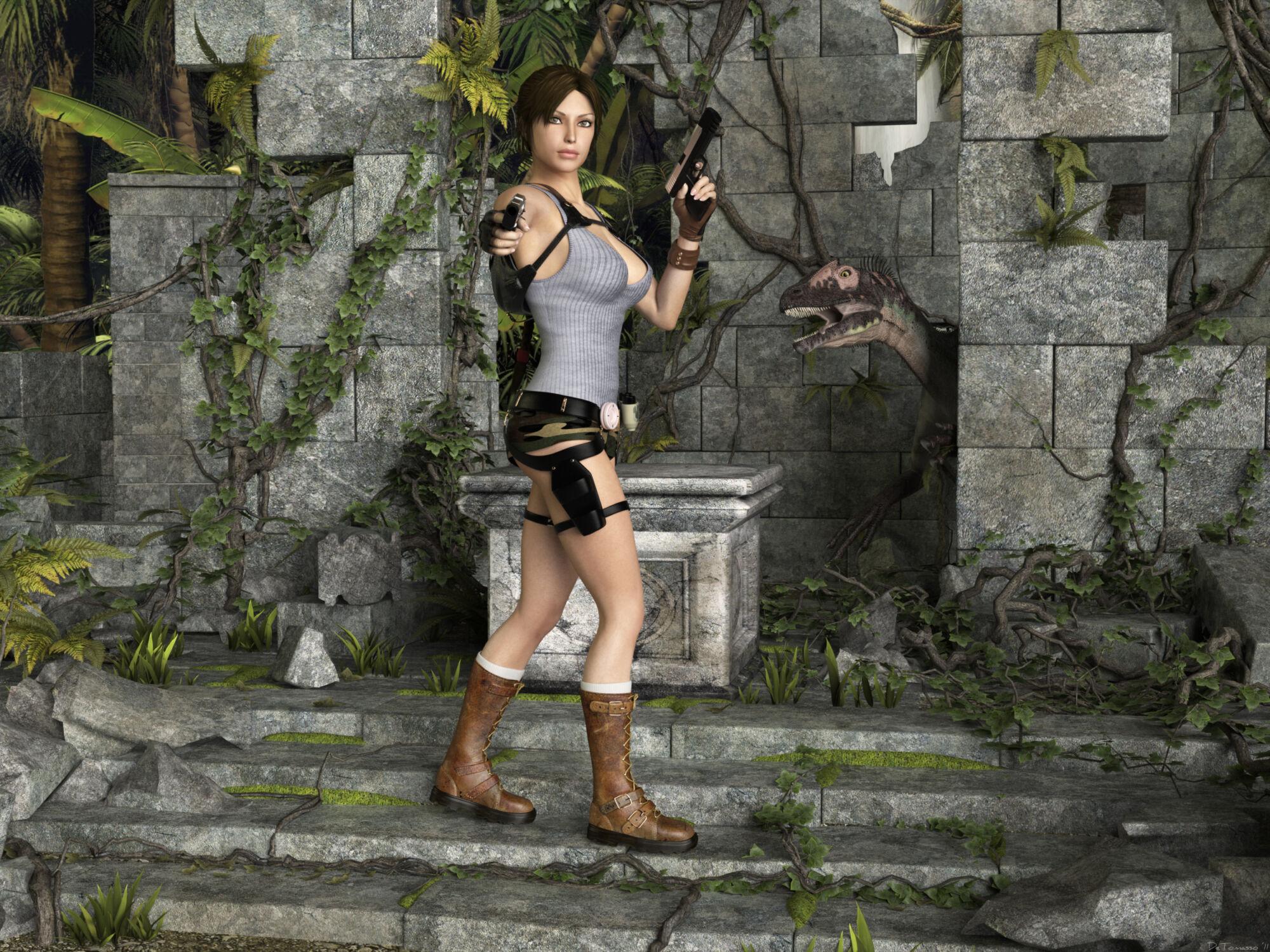 SureFap xxx porno Tomb Raider - [Sasha2000Dog][Detomasso] - Lara and Nathan Jurassic Stone Park