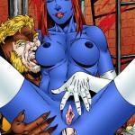 X-Men - [Leandro Comics] - Mystique and Sabertooth Fucking Hard