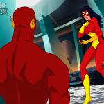 Crossover Heroes - [Online SuperHeroes][Max] - Spiderwoman Gets A Swift, Hot Fuck From Flash!