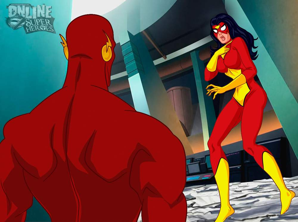 SureFap xxx porno Crossover Heroes - [Online SuperHeroes][Max] - Spiderwoman Gets A Swift, Hot Fuck From Flash!