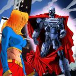 Superman - [Online SuperHeroes] - Supergirl Gets Her Tight Holes Fucked Hard By Steel