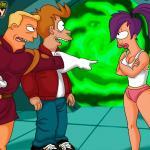 Futurama - [CartoonValley][NEW] - Zapp, Leela and Fry From Futurama in a Steamy Threesome