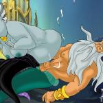 The Little Mermaid - [XL-Toons] - Ursula Having Kinky Underwater Sex With King Triton